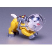 Penn-Plax Action-Air 082 Plastic Diving Sea Dog Aerating Ornament Jewel Box Package