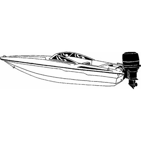 Carver-Styled-To Fit Boat Cover for Ski Boats with Low Profile (Low Profile Ski Boat)