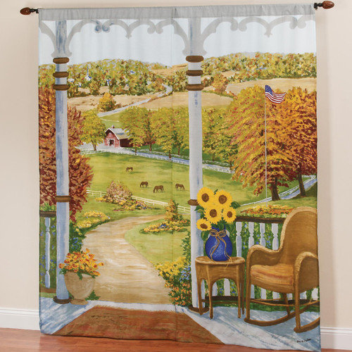 Sweet Home Collection Heartland Curtain Panel (Set of 2)