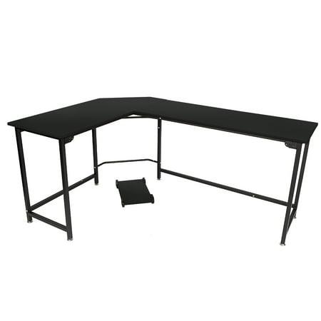 Zimtown L-Shaped Desk Corner Computer Table PC Latop Study Office Desk Workstation Black