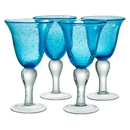 Artland Inc. Iris Turquoise Goblet Glasses - Set of 4 ()