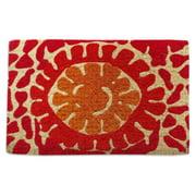 First Impression Red Flower Outdoor Doormat