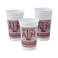 Ncaa Texas A&m 20 Oz Plastic Cups - Party Supplies - Licensed Tableware - Licensed Cups - 8 Pieces