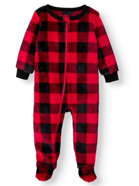 Matching Family Christmas Pajamas Baby Boy Girl Unisex Buffalo Plaid Sleeper