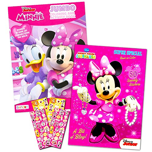 Disney Minnie Mouse Coloring Book Set With Stickers -- 2 Deluxe Coloring  Books And Over 150 Stickers - Walmart.com - Walmart.com