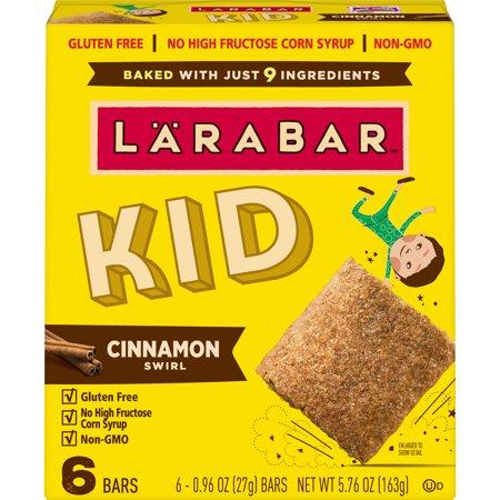 Larabar Kid Cinnamon Swirl Bar 6 Count, 0.96 OZ (Cinnamon Cheesecake)