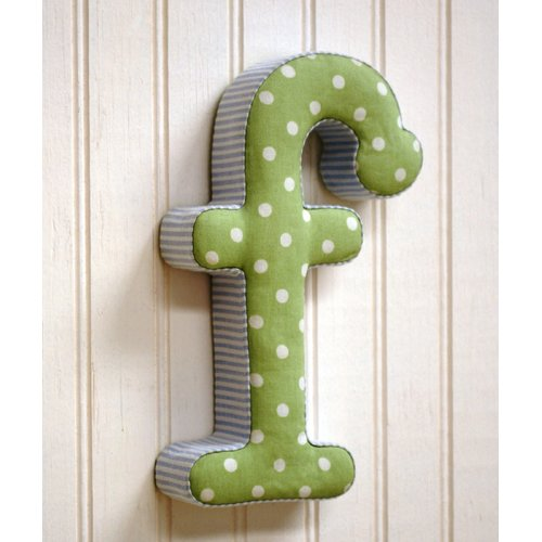 New Arrivals ''f'' Fabric Letter in Blue / Green