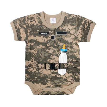 Infant Acu Uniform (ACU Digital Camo Printed Baby Onsie Infant -Toddler )
