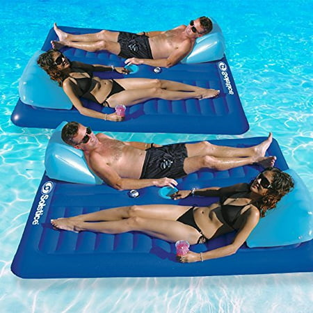 Solstice Face To Face Swimming Pool Float, 2-Pack
