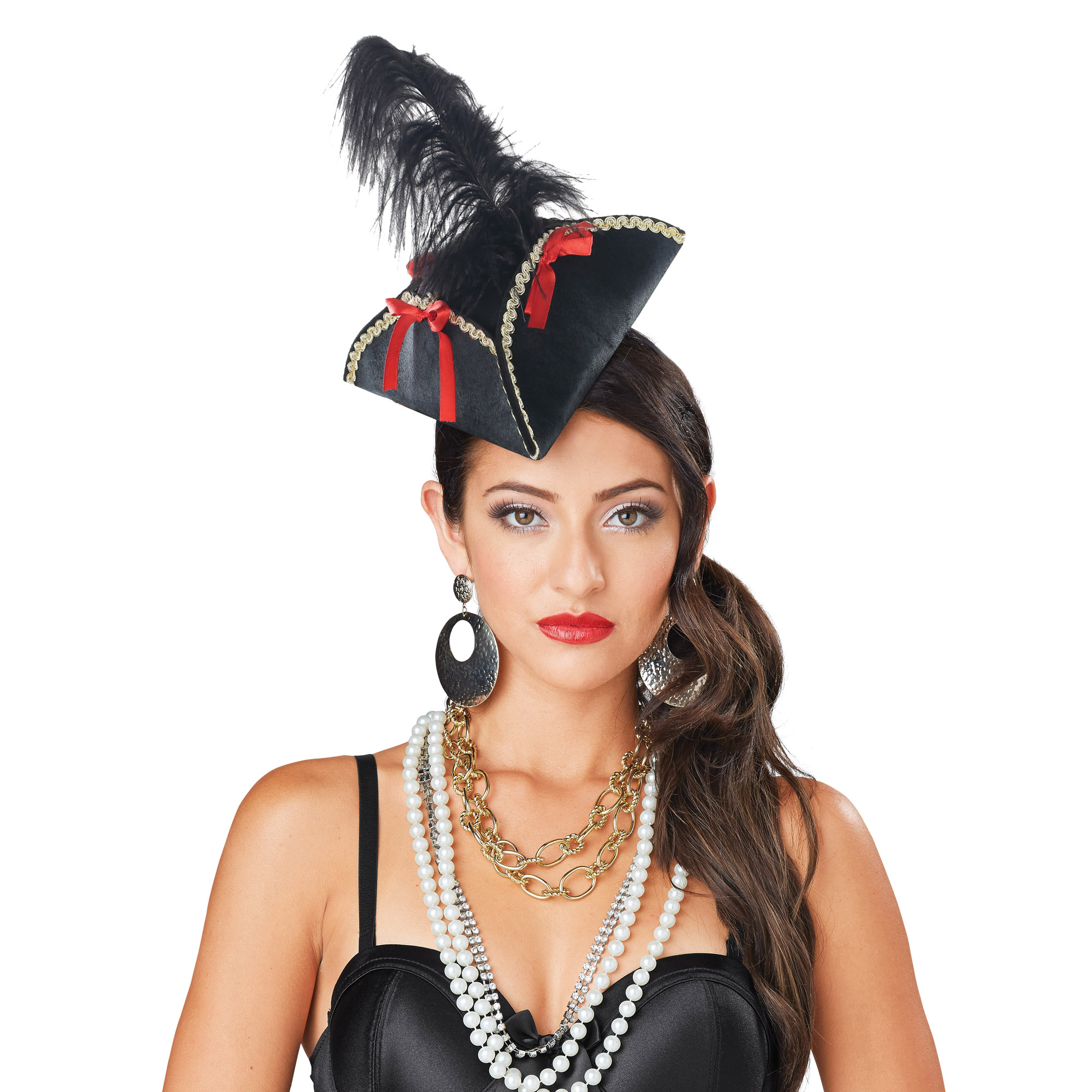 Deluxe Mini Pirate Tricorn Hat With Feather by Wal-Mart Stores, Inc.