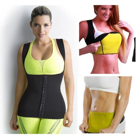 58c56b05b9 5 Star Super Deals - Sweat Vest Hot Thermal Neoprene Shirt Body Shaping  Slimming Vest - Weight Loss - Small - Walmart.com