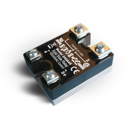 Opto 22 240A45 AC Control Solid State Relay, 240 VAC, 45 Amp, 4000 V Optical Isolation, 1/2 Cycle Maximum Turn-On/Off Time, 25 - 65 Hz Operating (Isolation Relay)