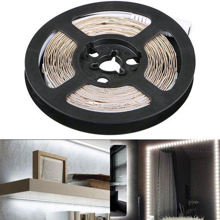 300 LED Light Strip Kit w/ Power Supply, Super Bright 13 Feet 12V LED Ribbon, 6000K Daylight White Under Cabinet Lighting Strips, LED Tape