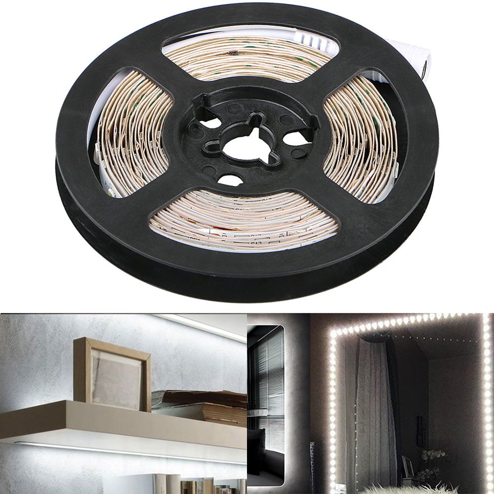 300 LED Light Strip Kit w/ Power Supply, Super Bright 13 Feet 12V LED Ribbon, 6000K Daylight White Under Cabinet Lighting Strips, LED Tape