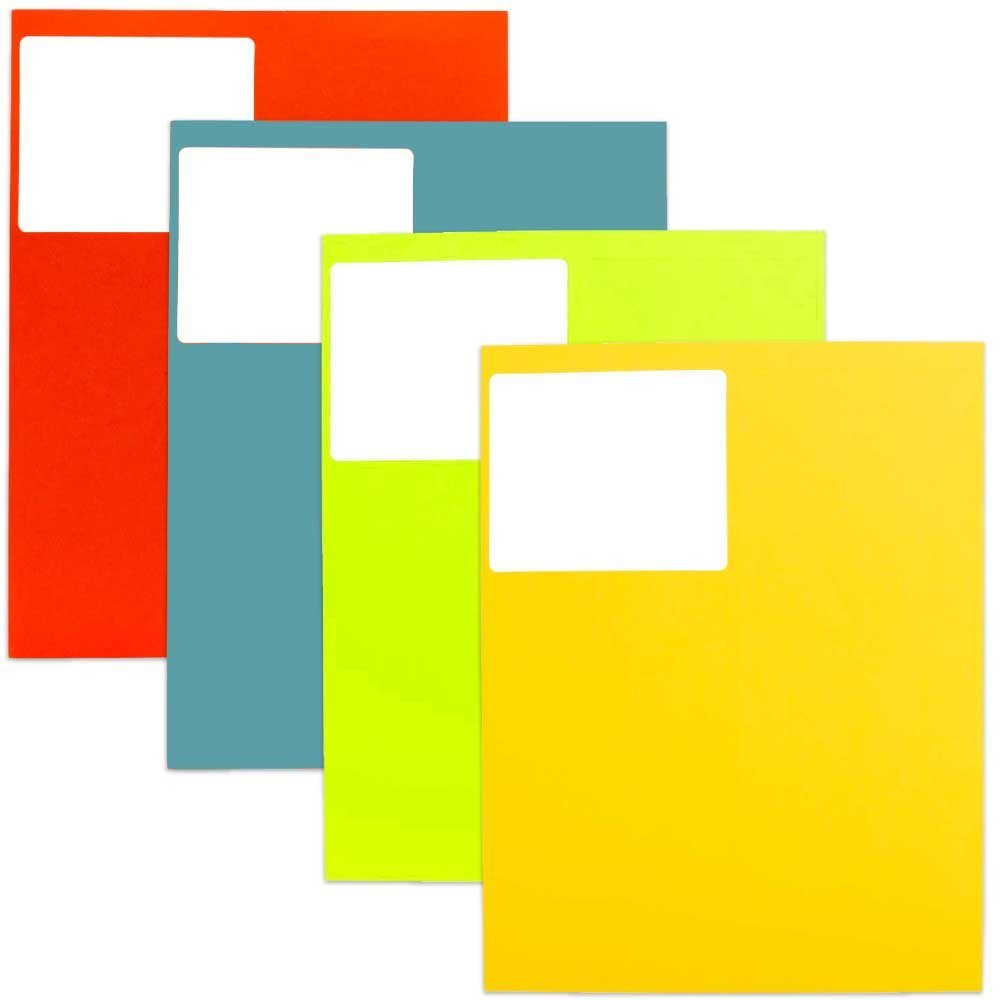 JAM Paper Mailing Address Labels, Large, 3 1/3 x 4, Assorted Bright Colors, 120/pack/pack
