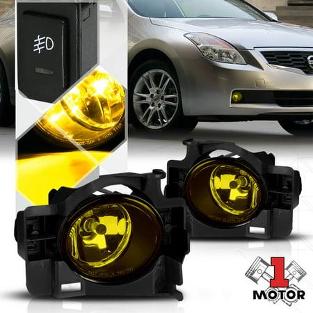 10 Nissan Altima Coupe - Yellow Lens Fog Light Bumper Lamp w/Switch+Harness for 08-13 Nissan Altima Coupe 09 10 11 12