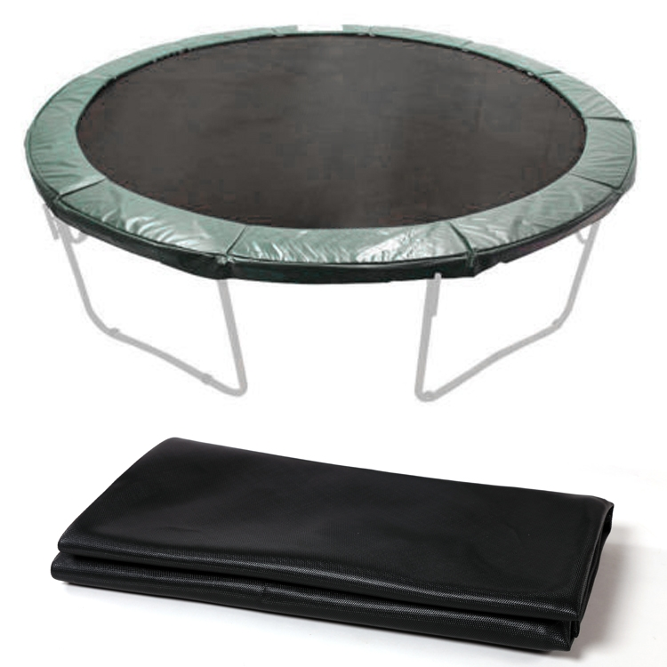 Black 12.4' Trampoline Jumping Mat Replacement 72 V Rings SMT