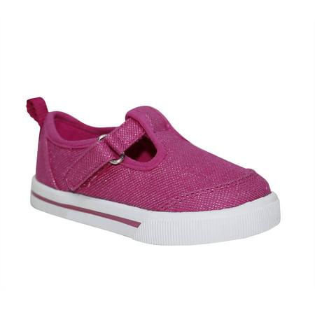 Baby Girls' Glitter T-strap Casual Shoe - Glitter Shoes Girls