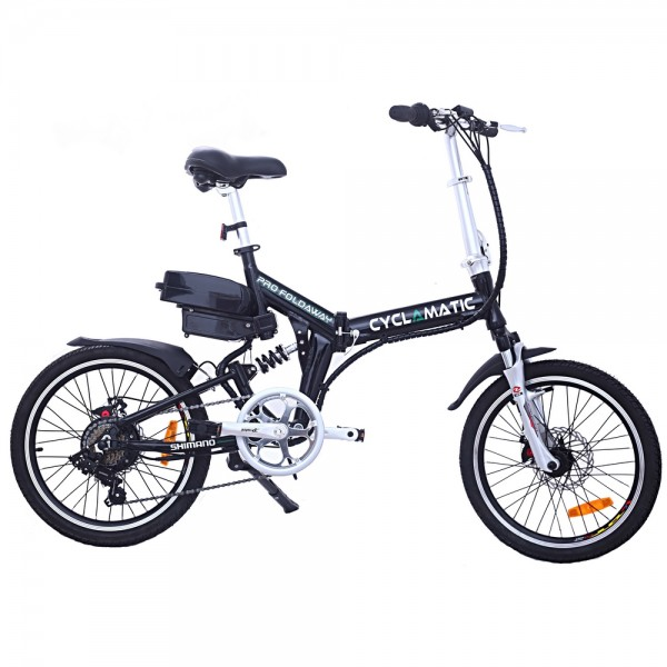 Cyclamatic CX4 Pro Suspension Foldaway Electric Bike Black