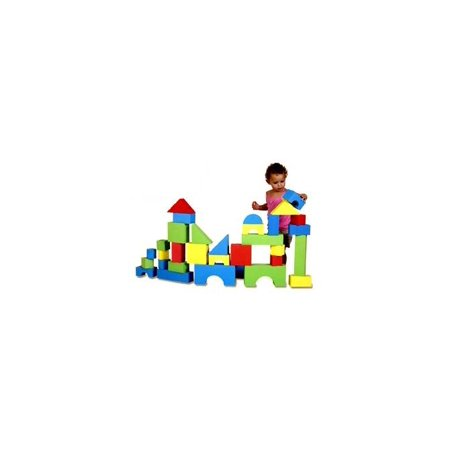 Foam Primary Colored Building Blocks Set - Set of 32