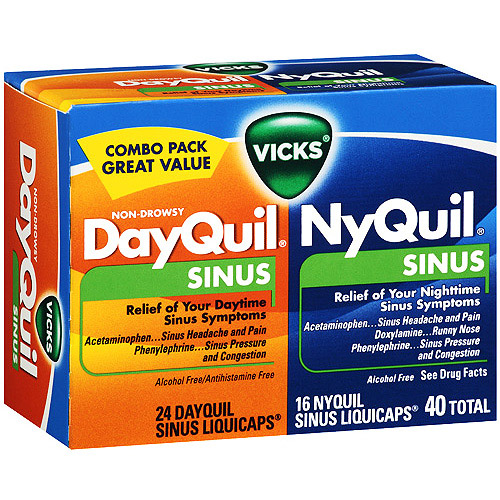 nyquildayquil sinus liquicaps 40ct walmartcom