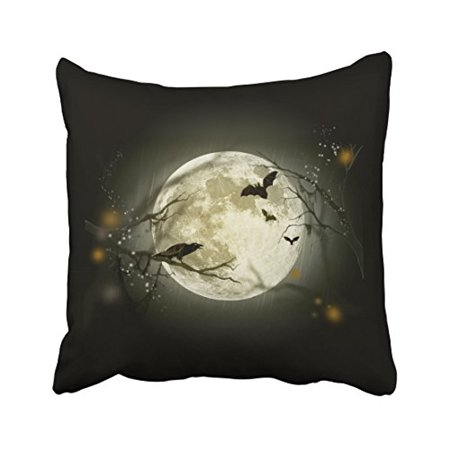 RYLABLUE Halloween Night Throw Pillow Covers Cushion Cover Case 18x18 Inches Pillowcases Two Side - image 1 of 1