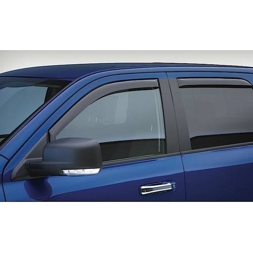 Egr 14-15 Silverado 1500 Double Cab 4-Piece In Channel Slimline Window Visors Smoke