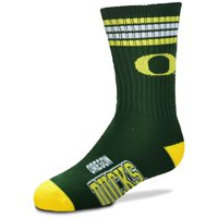 Oregon Ducks For Bare Feet Youth Four-Stripe Deuce Quarter-Length Socks - No Size