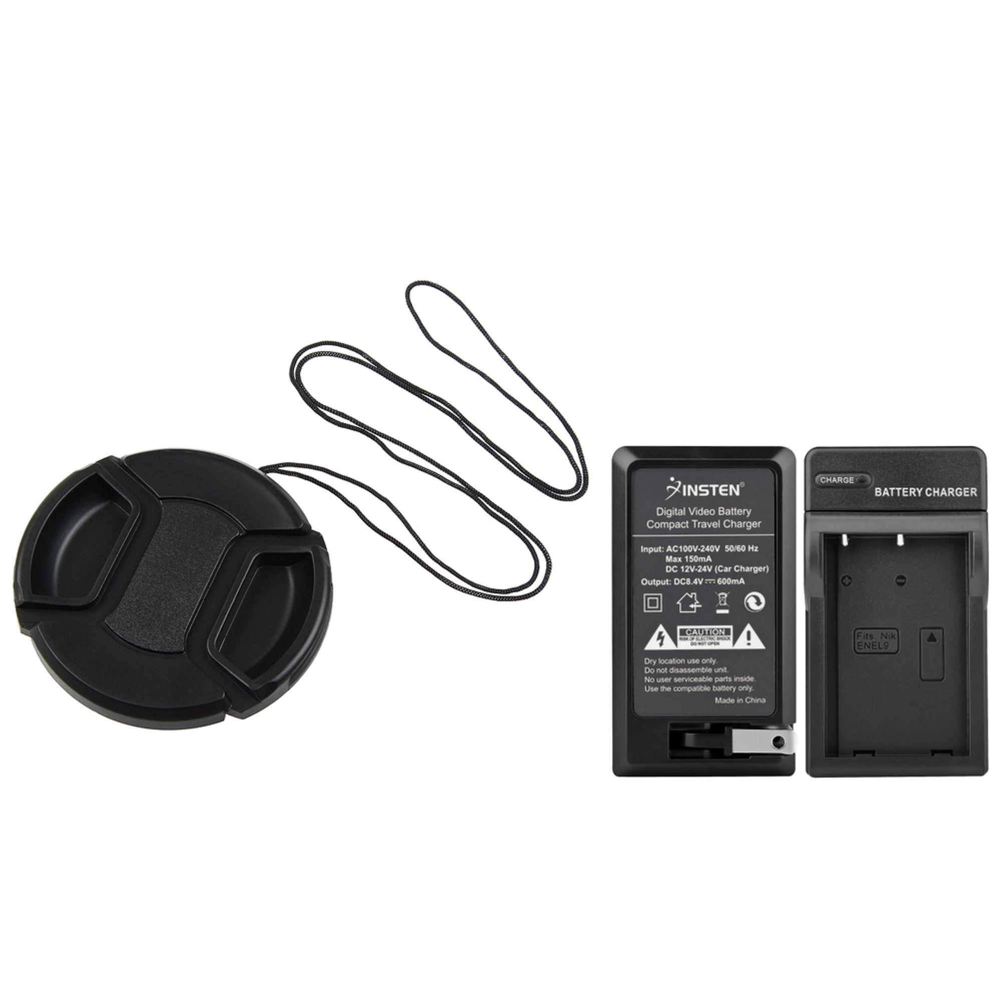 Insten EN-EL9 Battery Charger For Nikon Camera D5000 d3000+Protector Cap Cover