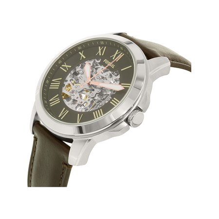 7d26086167b Fossil Men s Grant ME3100 Silver Leather Japanese Automatic Dress Watch -  image 1 ...