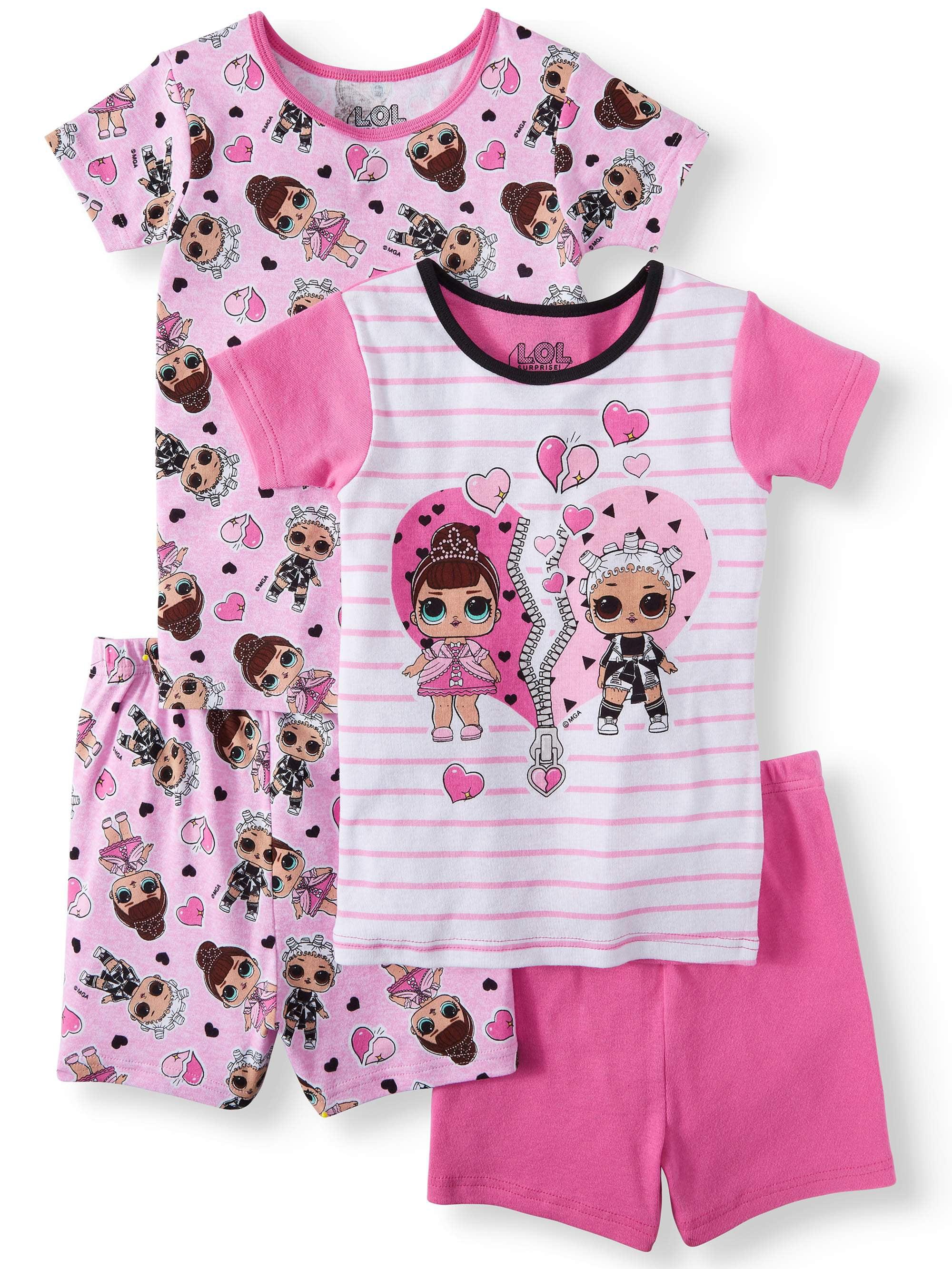 Girls' LOL Surprise 4 Piece Pajama Sleep Set (Little Girl & Big Girl)