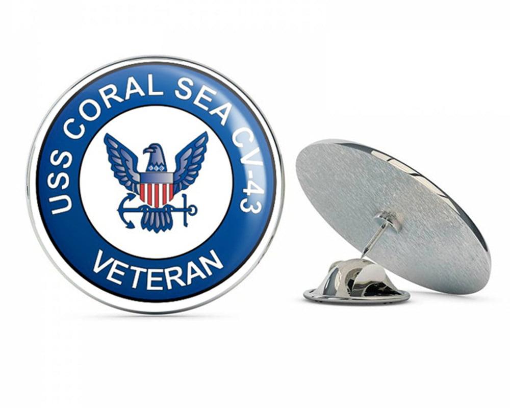 "US Navy USS Coral Sea CV-43 Veteran Military Veteran USA Pride Served Gift Metal 0.75"" Lapel Hat Pin Tie Tack... by"