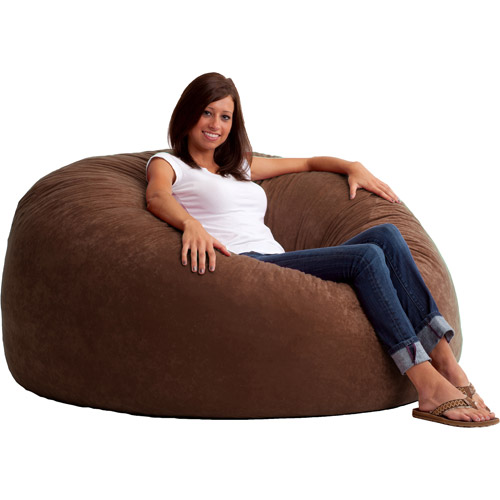 sc 1 st  Walmart & King 5u0027 Fuf Comfort Suede Bean Bag Chair Multiple Colors - Walmart.com