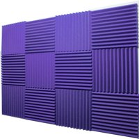 "12 Pack Purple Acoustic Panels Studio Foam Wedges 1"" X 12"" X 12"""