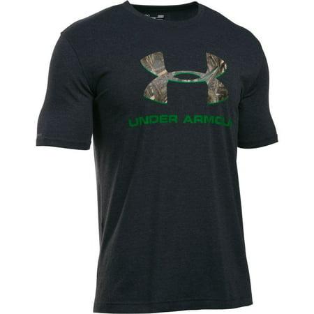 Under armour men 39 s t shirt 3xl black w camo logo for Under armour shirts at walmart