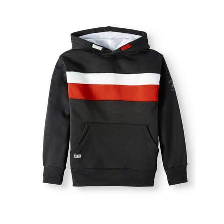 Beverly Hills Polo Club Colorblock Fleece Pullover Hoodie Sweatshirt (Little Boys & Big Boys)