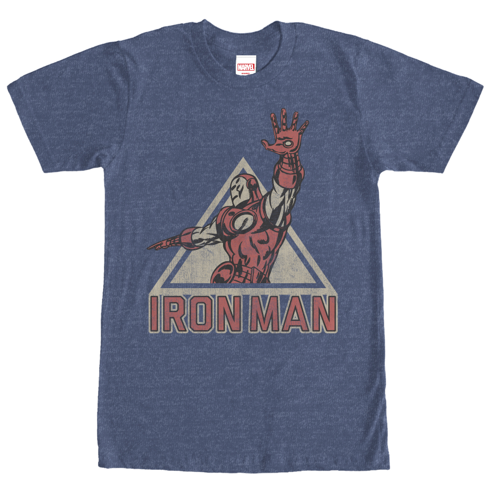 Marvel Men's Triangle Iron Man T-Shirt