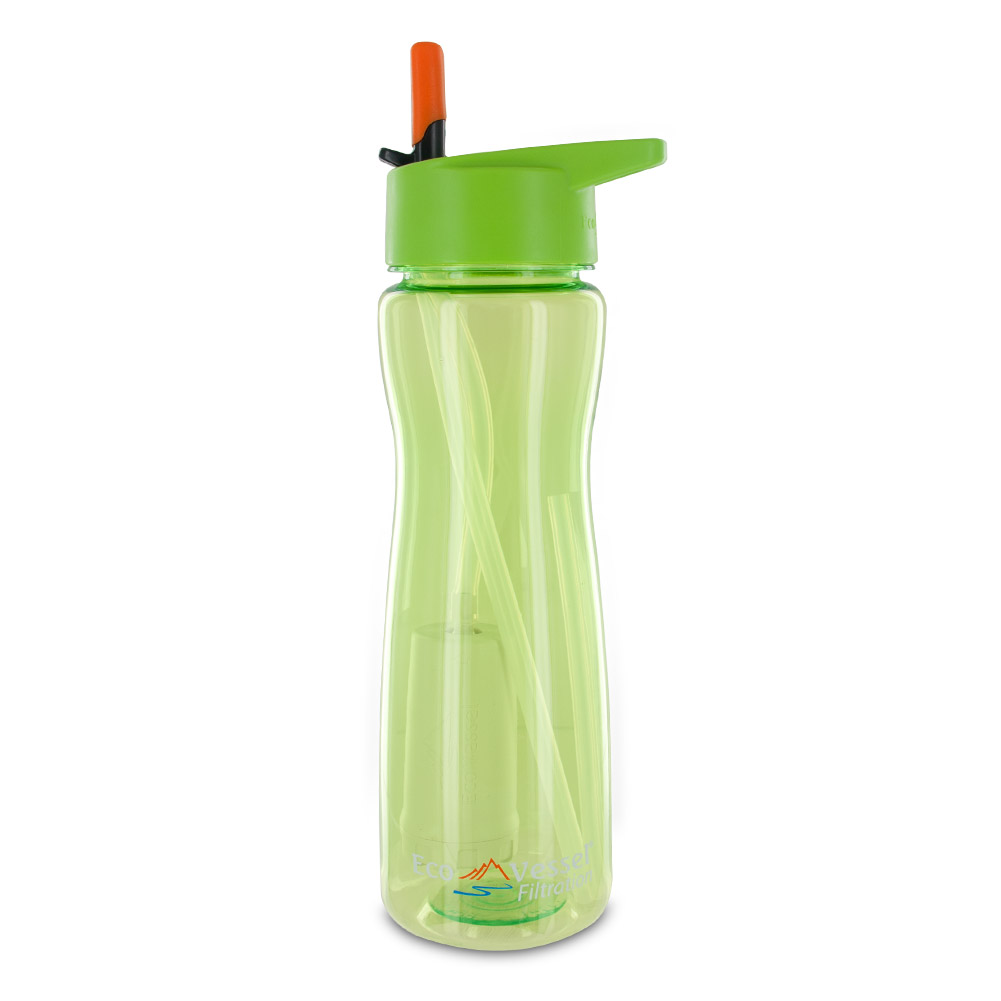 Aqua Vessel Ultra Lite Tritan 25oz Filtration Bottle 100 Gallon Filter, Green by Eco Vessel