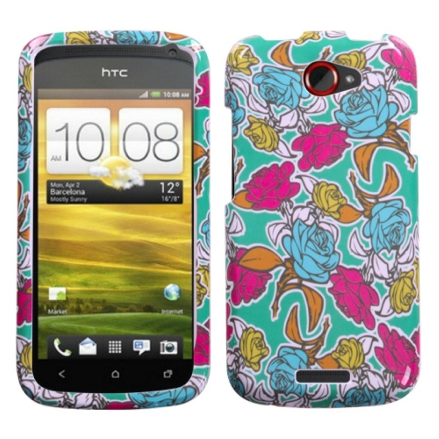 Insten Rose Garden Phone Case for HTC: One S