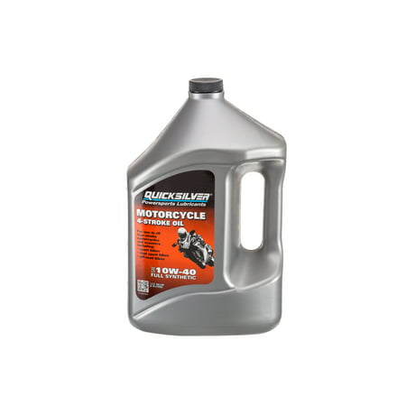Quicksilver 8M0060085 4-Stroke Full Synthetic 10W-40 Motorcycle Engine Oil