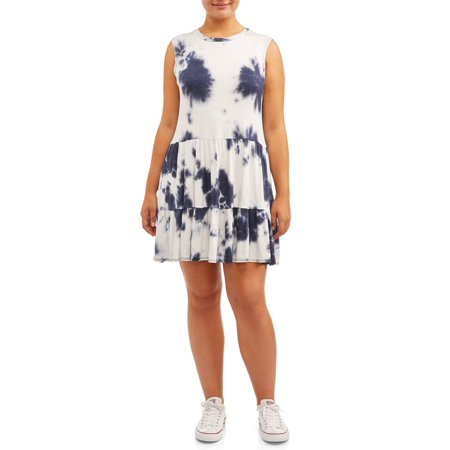 POOF Juniors\' Plus Size Tie-Dye Shift Dress
