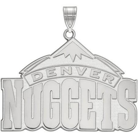 NBA Denver Nuggets Sterling Silver Extra Large Pendant