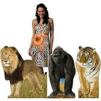 Jungle Animal Cardboard Stand-Ups, Set of 3