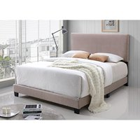 MYCO Furniture 8740K-CR Faux Leather Bed