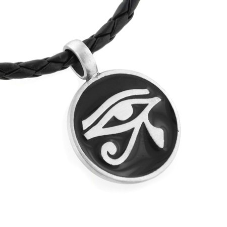 Egyptian Eye Horus - Egyptian Eye of Horus Silver Tone Pewter Amulet Pendant 20