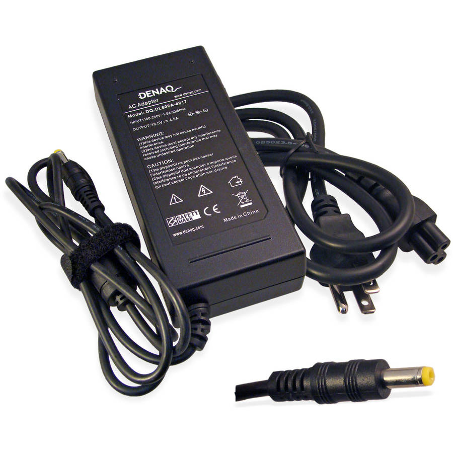 DENAQ 18.5-Volt 4.9-Amp 4.8mm-1.7mm AC Adapter for HP/Compaq EVO, Business Laptop and Pavilion Series Laptops