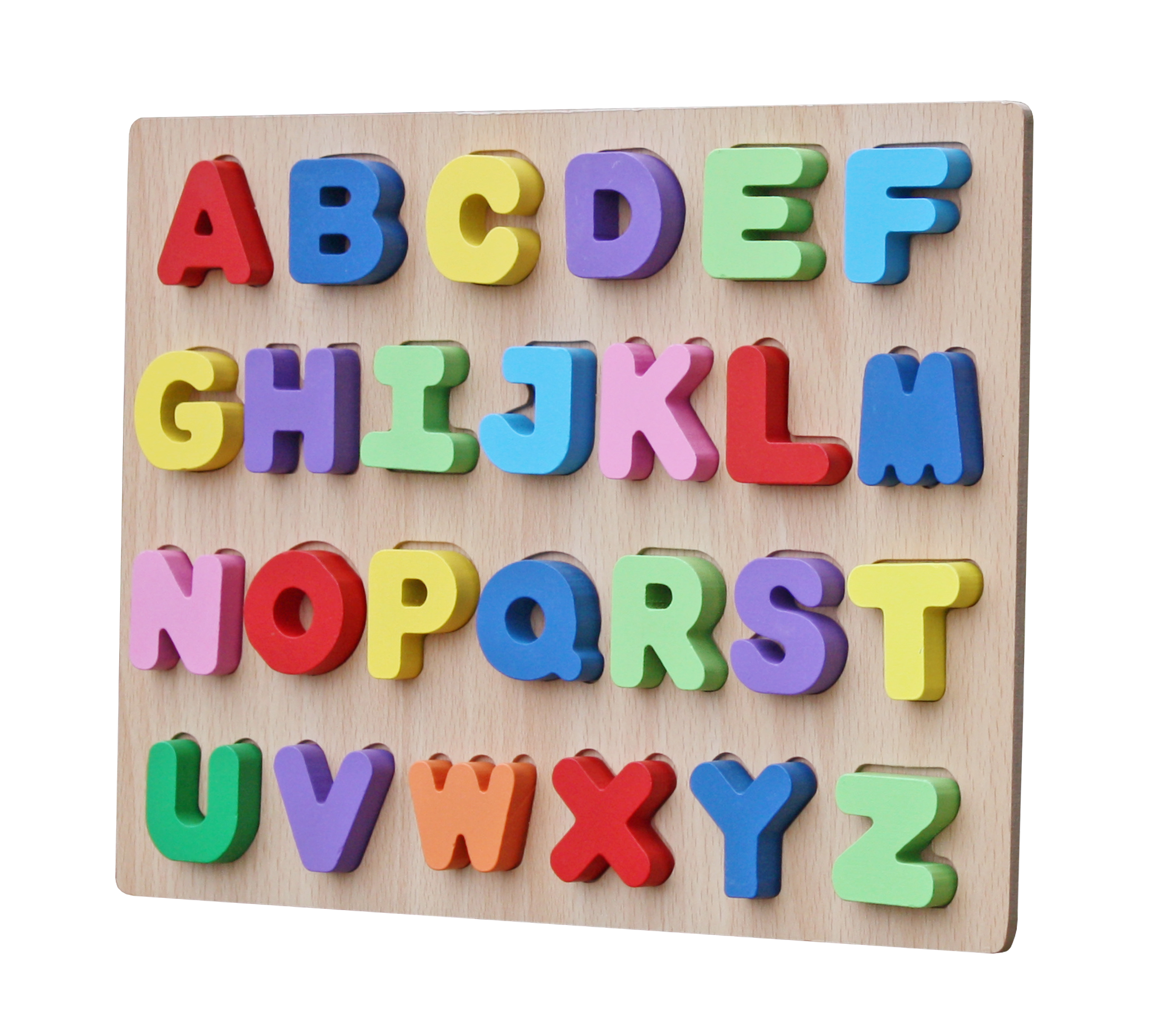 Timy Kids Preschool Alphabet Learning Block Raised See-Inside ABC Large Wooden Puzzle (26... by Cheerwing