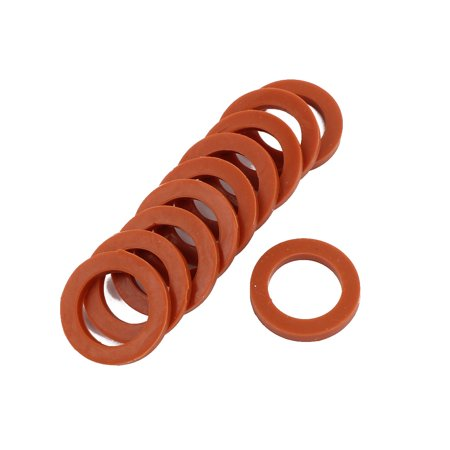 10pcs 24mm x 16mm x 3mm Silicone O Ring Seal Gaskets Red for Pipe Tube Hose