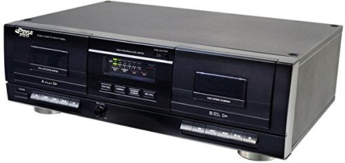 Pyle PT659DU Dual Stereo Cassette Deck with Tape USB to MP3 Converter by Pyle
