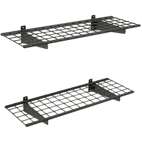 Hyloft Wall Shelf, 2pk, Black Hammertone